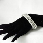 PEARL &amp; RHINESTONE BRACELET
