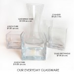 Our Everyday Glassware